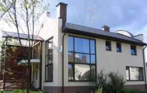 Алюминиевые окна при наружном остеклении здания